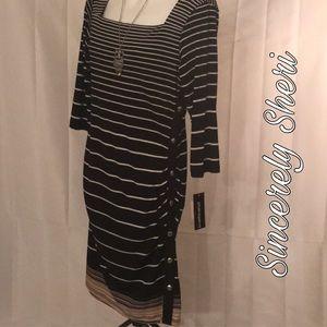 NWT Sharango Long Sleeve Stripe Dress Size 10